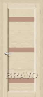 Двери Межкомнатные Леон Т-18 (Ваниль) ПО СТ- Сатинато