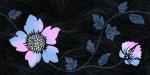 Керамическая плитка Нефрит-Керамика Вставка 04-01-1-10-03-65-122-2 Цветы