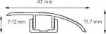 Подложка, порожки и все сопутствующие для пола Порожки Переходный порожек 2100 мм