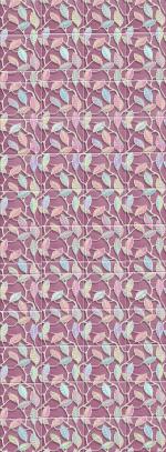 Стеновые панели ПВХ Этель розовая вставка