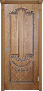 Двери Межкомнатные Дверное полотно Муар орех натуральный-2