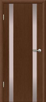 Двери Межкомнатные Гранд-М  вариант 1 с белым триплексом Темный орех, Миланский орех