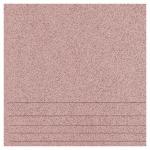 Керамогранит Техногрес Техногрес ступени 300х300х8 матовые светло-розовые