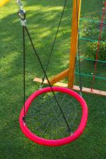 Мебель Садовая мебель Качели-гнездо 85*110 см овал красные