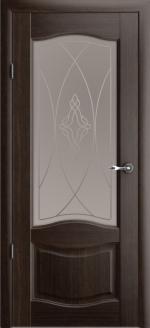 Двери Межкомнатные Лувр-1 орех мателюкс бронза галерея
