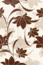 Керамическая плитка Газкерамик Декор Laura Flowers шоколадный
