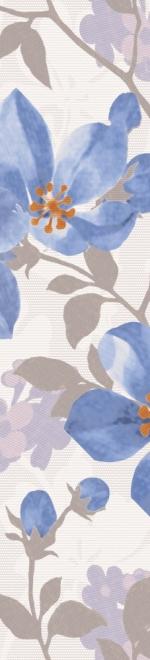 Керамическая плитка Lasselsberger Ceramics Натали бордюр 1503-0043 голубой