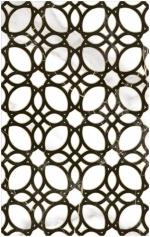 Керамическая плитка Шахтинская плитка (Unitile) Фиеста белая декор 01