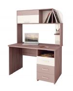 Мебель Витра Письменный стол Розали 96.26.1 ясень Шимо темный/Крем-брюле глянец/Мокко глянец