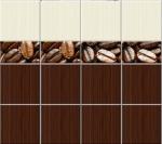 Стеновые панели ПВХ Кофе микс фон