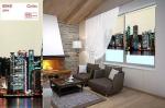 Товары для дома Домашний текстиль Рулонные шторы Город День 8945