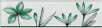 Керамическая плитка Газкерамик Бордюр Валентино Цветы зеленый