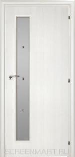 Двери Межкомнатные Saluto 201 F белый палисандр