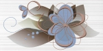 Керамическая плитка Нефрит-Керамика Декор 04-01-1-10-03-61-442-0 Голубой
