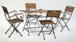 Мебель Садовая мебель Стол прямоугольный 120*80 см + 4 стула с подлокотниками HolzHof
