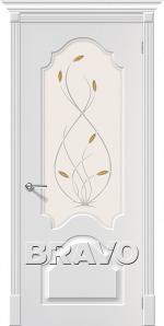 Двери Межкомнатные Скинни-33 П-24 (Белый) СТ-Орхидея