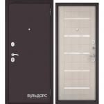 Двери Входные Бульдорс ECONOM Ларче бьянко E-142 стекло LW