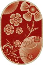 Ковры Premier Hali Prestige Carving 8114a bordo-cream Овал