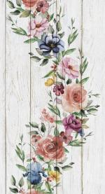 Стеновые панели ПВХ Цветущий сад узор №647