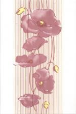 Керамическая плитка Газкерамик Декор Alba Маки лиловый