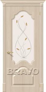 Двери Межкомнатные Скинни-33 П-30 (Белый Дуб) СТ-Орхидея
