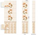 Стеновые панели ПВХ Камила алая декор