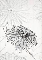 Керамическая плитка Березакерамика (Belani) Декор Ретро цветок черный