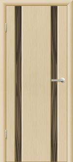 Двери Межкомнатные Гранд-М  вариант 8 с прозрачным тонированным триплексом  Выбеленный дуб