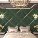 Стеновые панели 3D панели Avrora Dark Green