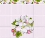 Стеновые панели ПВХ Яблоневый цвет розовый