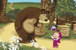Ковры Нева Тафт Карпет Маша и Медведь с мячом