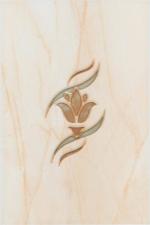 Керамическая плитка Березакерамика (Belani) Декор Елена цветок оранжевый
