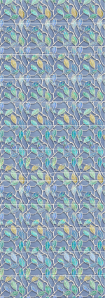Стеновые панели ПВХ Этель голубая вставка