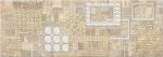 Керамическая плитка Eletto Декор Commesso Beige Geometria золото