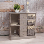 Мебель ЭкоДизайн Комод с семью ящиками HX15-310SN, серый
