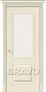 Двери Межкомнатные Вуд Классик-13 Ivory White Сrystal