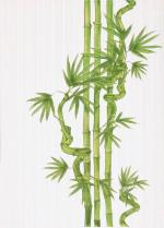 Керамическая плитка Березакерамика (Belani) Декор Ретро бамбук 2 салатный