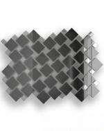 Керамическая плитка ДСТ Плитка зеркальная графит + серебро Г70С30