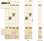 Стеновые панели ПВХ Подсолнух декор 1