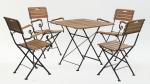 Мебель Садовая мебель Стол квадратный 80*80 см + 4 стула с подлокотниками HolzHof