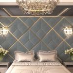Стеновые панели 3D панели Avrora Silver