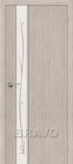 Двери Межкомнатные Глейс-1 Twig 3D Cappuccino