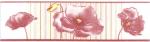 Керамическая плитка Газкерамик Бордюр керамический Alba Маки лиловый