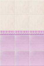 Стеновые панели ПВХ Магнолия сиреневая добор