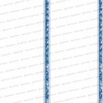 Стеновые панели ПВХ Элегия голубая 2-х секционная
