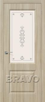 Двери Межкомнатные Скинни-13 П-34 (Шимо Светлый) остекленное