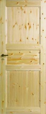 Двери Межкомнатные Трехфиленчатая сосновая дверь глухая однопольная №51