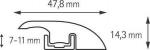 Подложка, порожки и все сопутствующие для пола Порожки Порог Г- образный 1000 мм