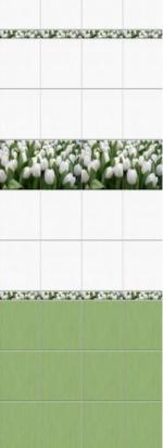 Стеновые панели ПВХ Белые тюльпаны 05-007