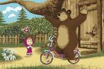 Ковры Нева Тафт Карпет Маша и Медведь на велосипеде